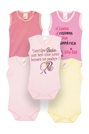 kit 5 pecas regata feminino