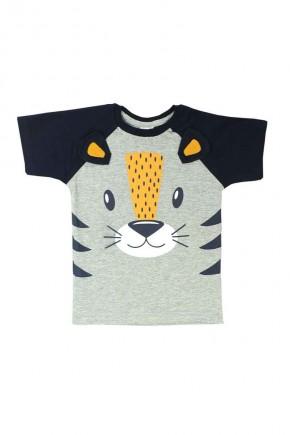 camiseta infanitl masculina rostinha de tigre