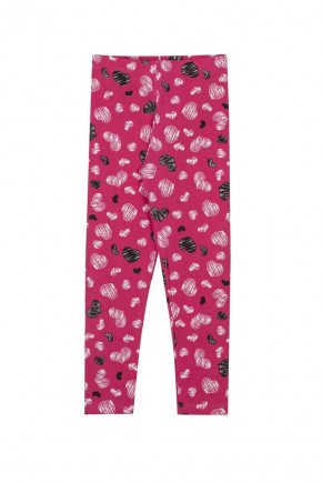 legging infantil andritex pink estampa coracao
