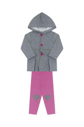 conjunto inverno infantil feminino ralakids mescla pitaya