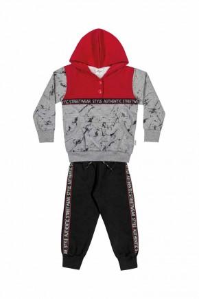 conjunto inverno masculino infantil elian com blusao e calca