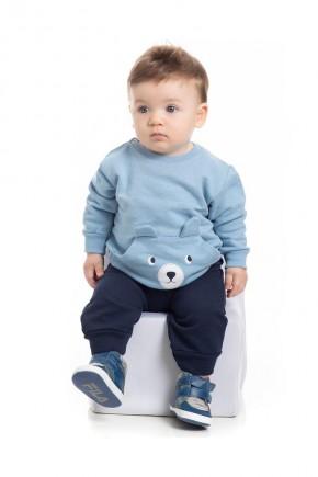 conjunto infantil masculino puff pimentinha kids azul