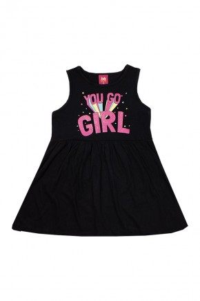 vestido infantil you go girl preto