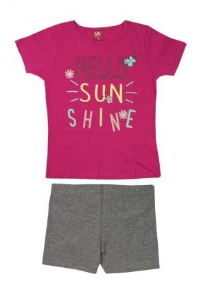 conjunto infantil feminino sushine rosa