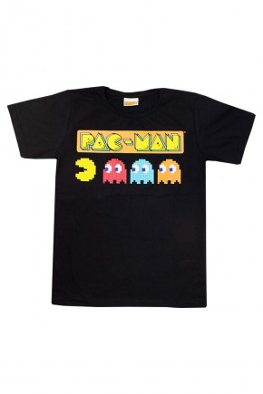 camiseta masculina preta pacman