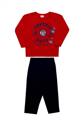 conjunto infantil masculino inverno capitain vermelho