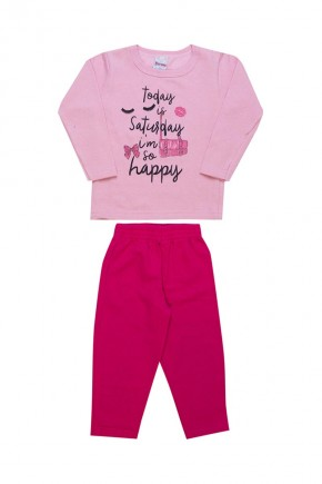 conjunto infantil feminino inverno today saturday rosa