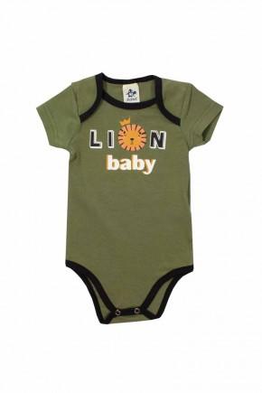 body bebe masculino verde lion
