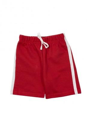 shorts masculino moletinho com listra na lateral vermelho