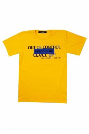 camiseta masculina infantil amarela