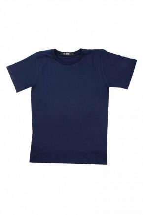 camiseta infantil amsculina azul marinho lisa