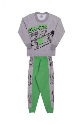 Conjunto de Moletom Infantil Masculino NY Skate Cinza
