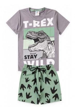 conjunto masculino t rex chumbo 1