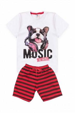 conjunto masculino music dog branco 2